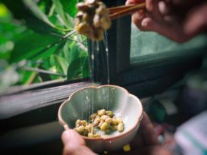 手作り納豆のねばり